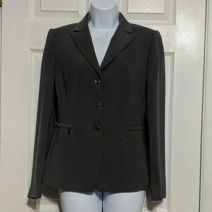Tahari Arthur S Levine Gray Blazer Size 4.